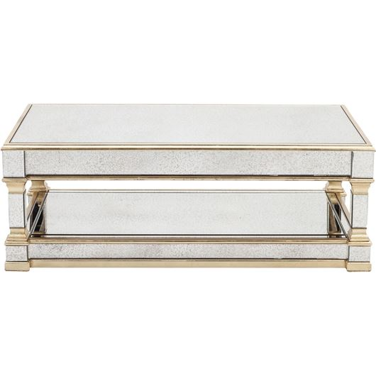 Picture of GAVIN coffee table 130x70 clear/gold