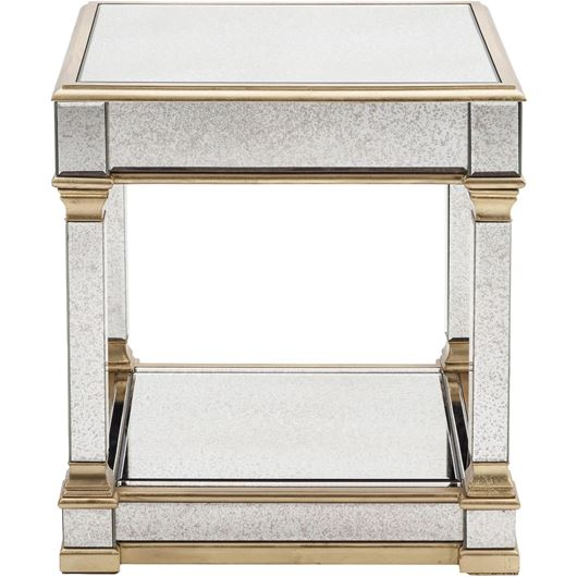 Picture of GAVIN side table 60x60 clear/gold