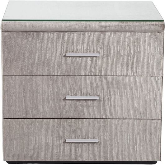 Picture of ROCKY bedside table taupe