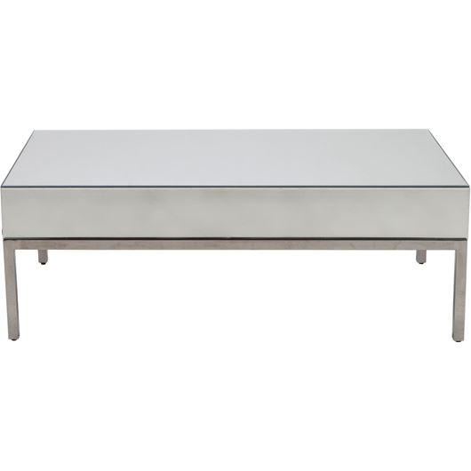 LOKA coffee table 130x70 clear/stainless steel
