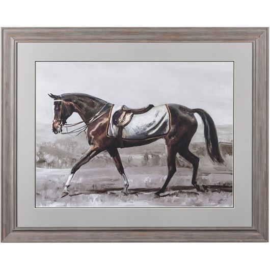 Picture of Framed Print Horse II 107x87 dark grey