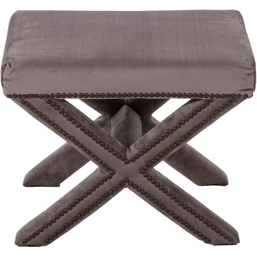 Picture of CLAR footstool 52x37 grey