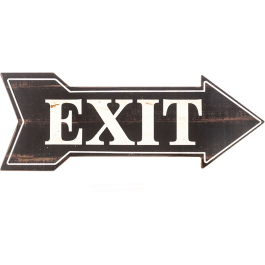 Picture of EXIT wall decoration 19x51 black