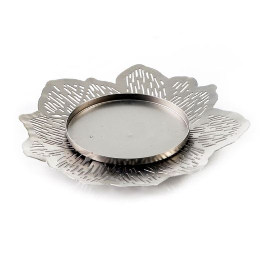 Picture of VIOLA candle plate d15cm nickel