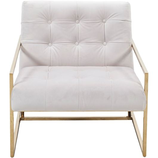 Picture of LORD armchair white