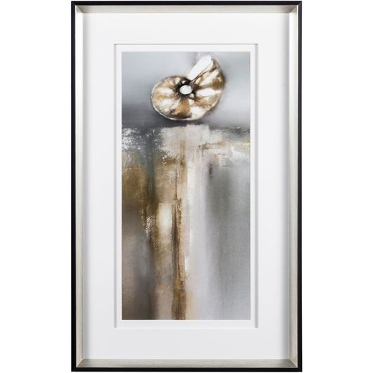 Picture of TREASURES II print 51x82 black/silver