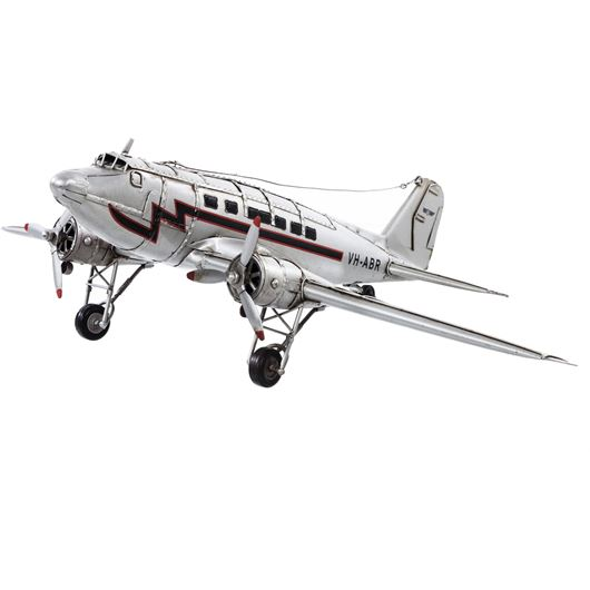 Picture of BOEING C47 plane decoration 50x38 silver