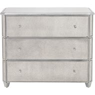 Picture of HONG chest 3 drawers clear/silver