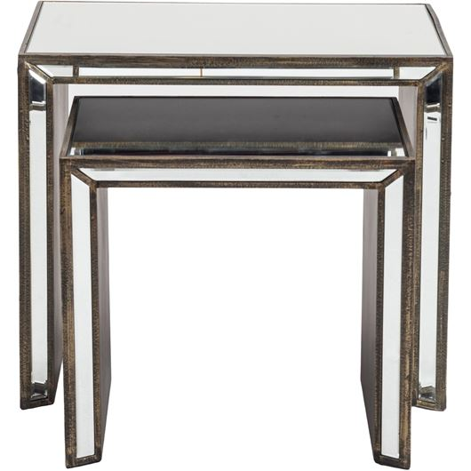 Picture of KONG nesting table set of 2 clear/bronze