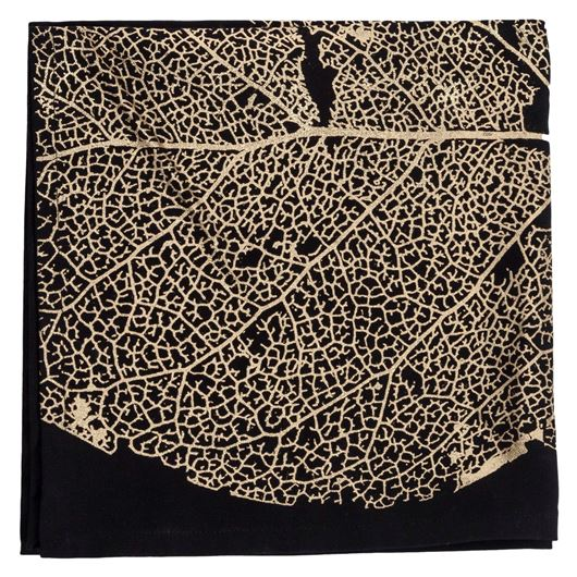 Picture of CARITA napkin 50x50 black/gold