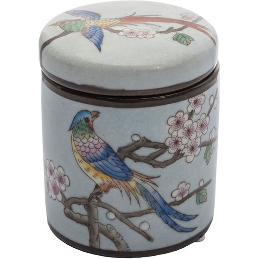 Picture of JANICE jar with lid h11cm multicolour