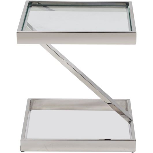 Picture of BOW side table 45x45 clear/stainless steel