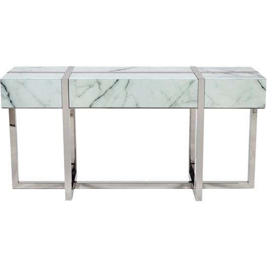 Picture of LEY console 160x45 white/stainless steel