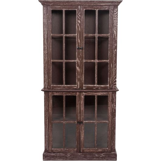 Picture of LINO display cabinet 196x99 dark brown