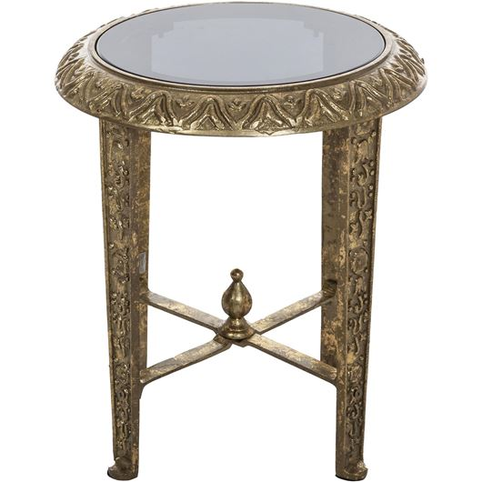 Picture of MIKA side table d38cm gold/black