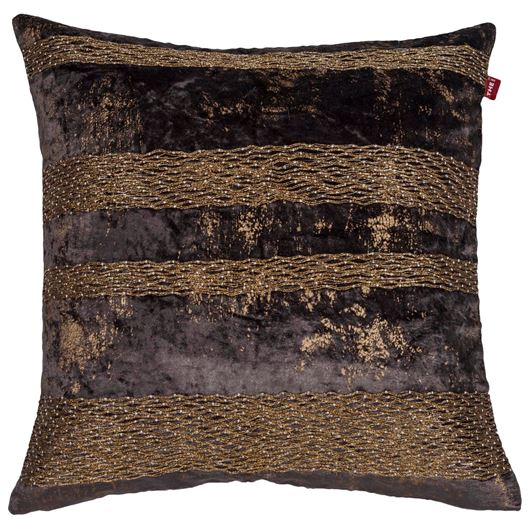 Picture of PARIM cushion cover 45x45 grey/gold