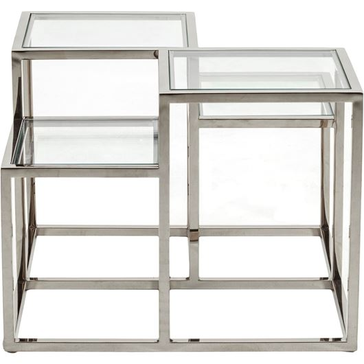 Picture of TRICK side table 65x65 clear/stainless steel