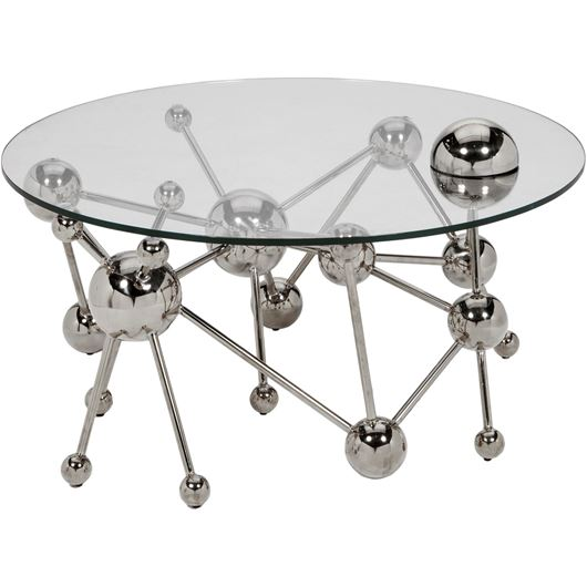 Picture of LAXI coffee table 100x100 clear/stainless steel