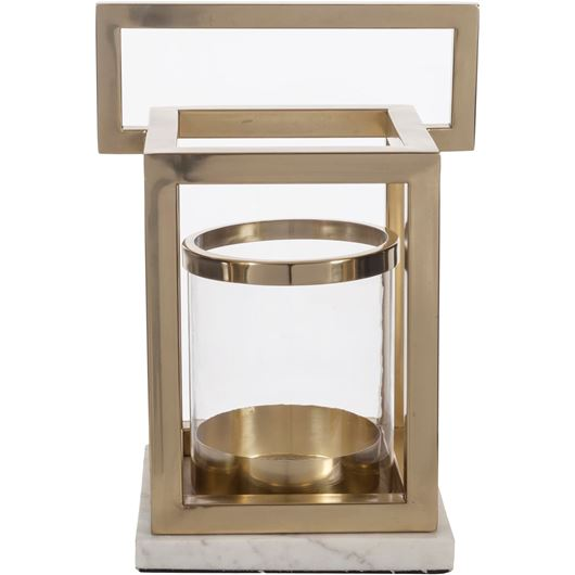 Picture of JED lantern h40cm brass