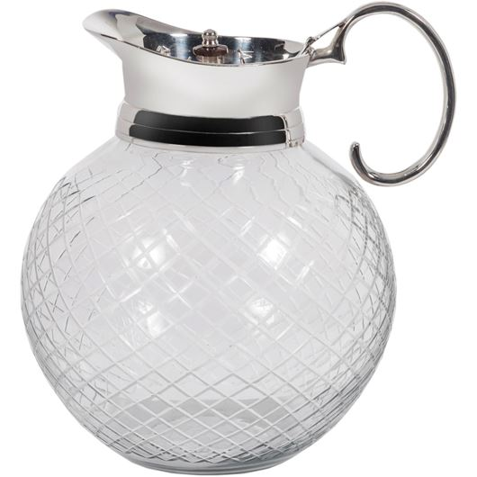 Picture of AARUSH jug h28cm clear/silver