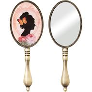 Picture of BELLA hand mirror 20x7cm pink