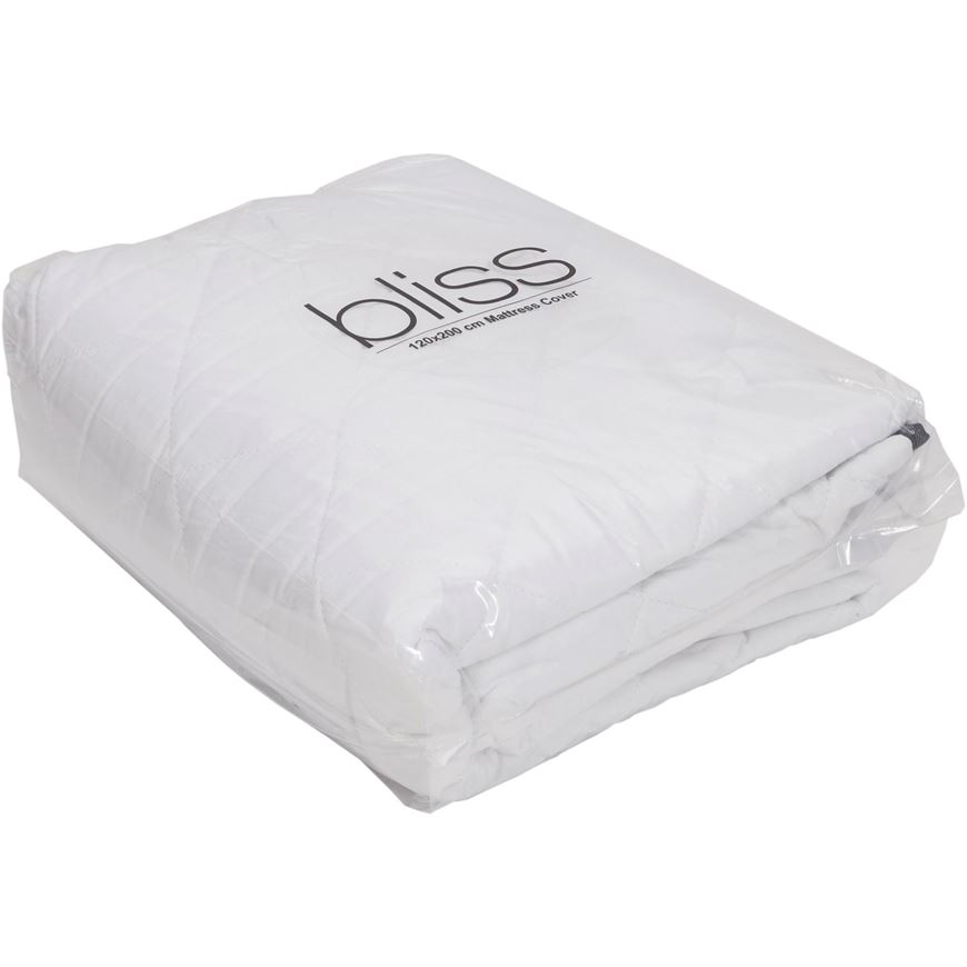 Picture of BLISS mattress cover 120x200 white