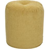 Picture of BONBON footstool d43cm yellow