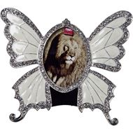 Picture of BUTTERFLY photo frame 5x8 nickel