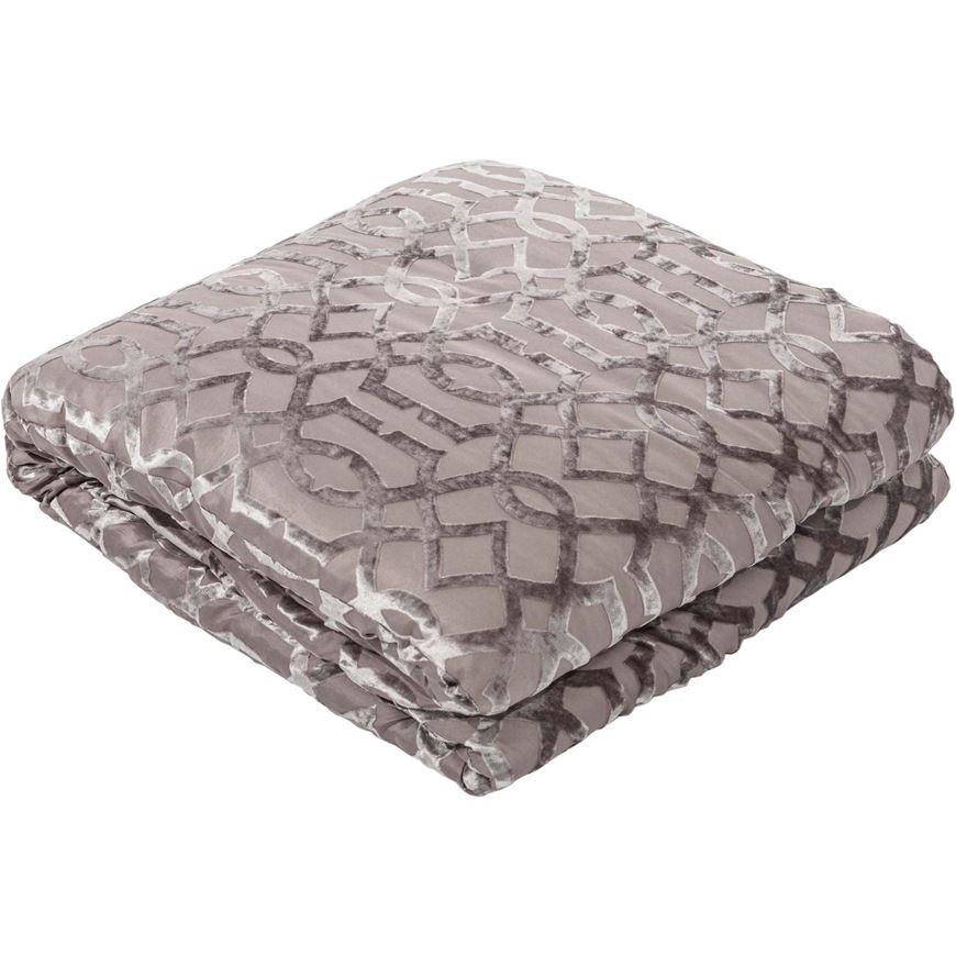 Picture of CASHEL bedspread 230x250 grey