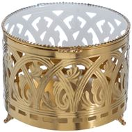 Picture of DEANNA jewellery box d15cm gold