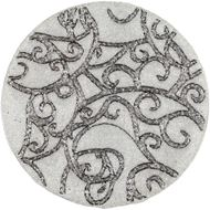 Picture of IINES place mat d38cm white/silver