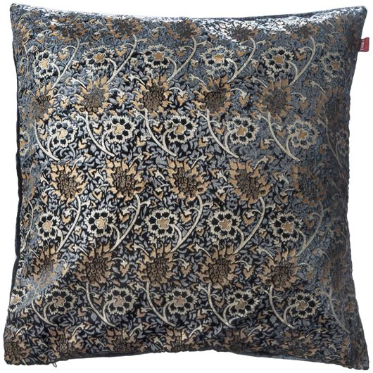 Picture of LARA cushion cover 50x50 blue/gold