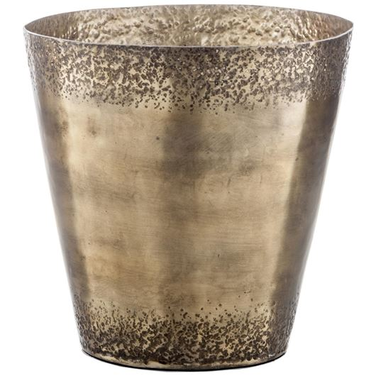 Picture of ROMAN planter h31cm brass