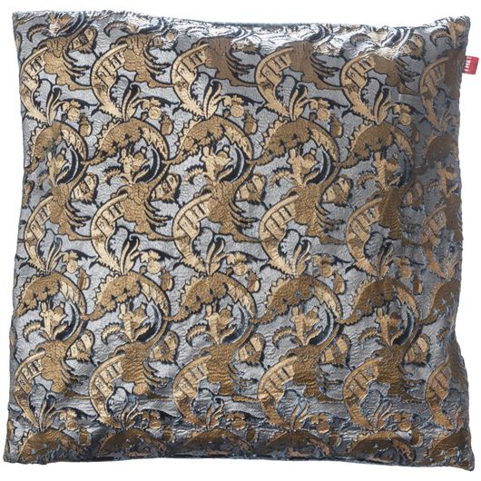 Picture of ZARA cushion cover 50x50 blue/gold