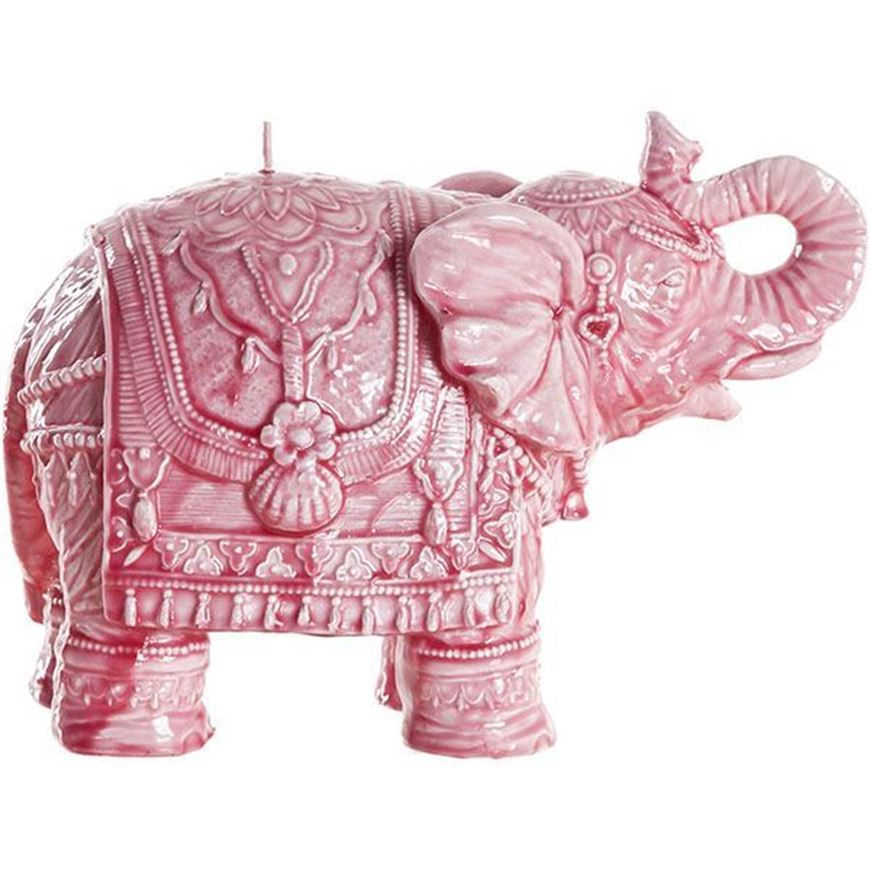 Picture of ELEPHANT candle h16cm pink