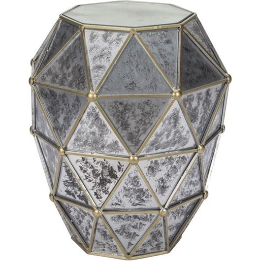 Picture of ORION side table d46cm silver/brass