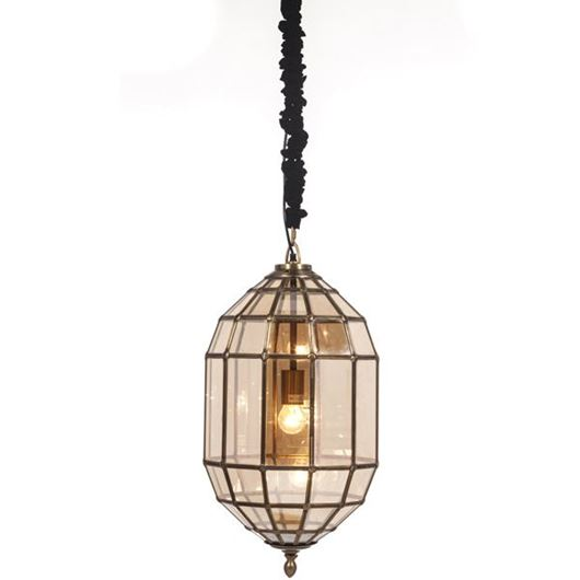 Picture of CAPSULE pendant lamp d36cm brown/brass