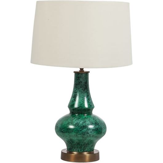 Picture of ROSALBA table lamp h68cm cream/green