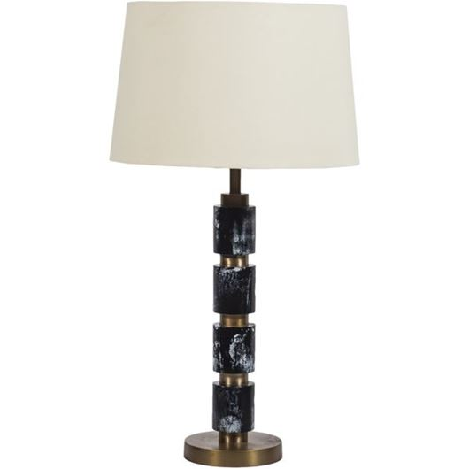 Picture of MELVY table lamp h68cm cream/black