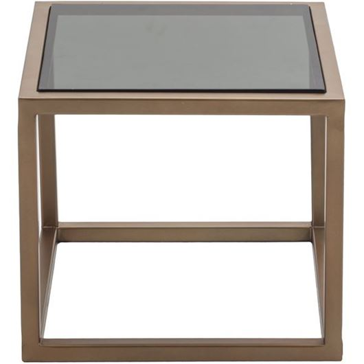 Picture of HARUKI side table 43x43 black/gold
