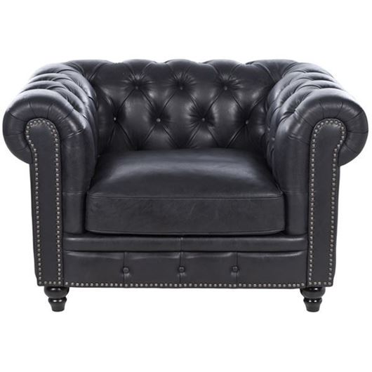 Picture of KEITH chair 1.5 leather black