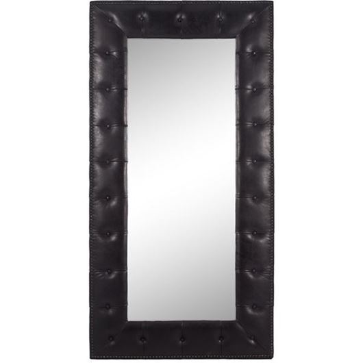 Picture of KEITH mirror 200x100 leather black