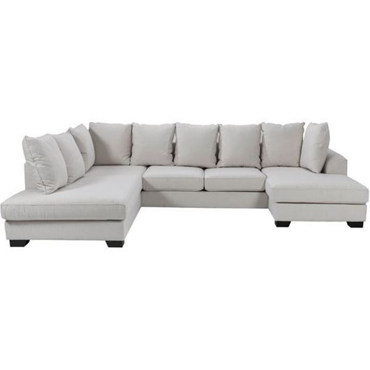 Picture of KINGSTON sofa U shape Left white