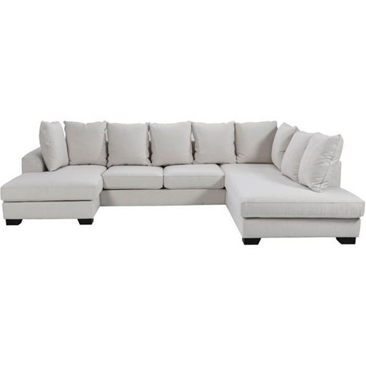 Picture of KINGSTON sofa U shape Right white