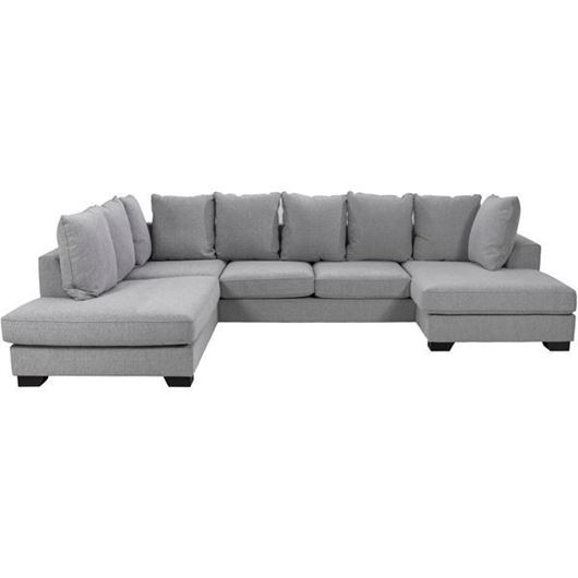 KINGSTON sofa U shape left grey