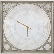 MARVIN clock 124x124 gold/clear