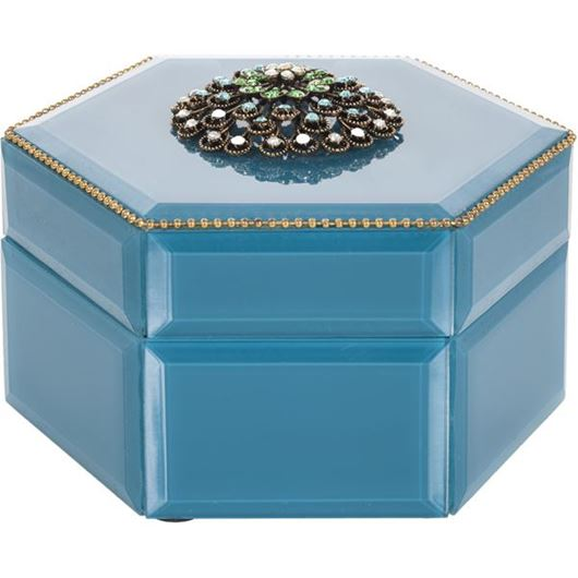Picture of HIROMI jewellery box 16x14 blue