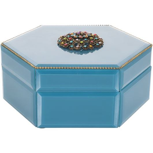 Picture of HIROMI jewellery box 21x19blue