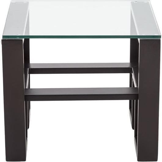 Picture of FAINA side table 56x56 bronze/clear