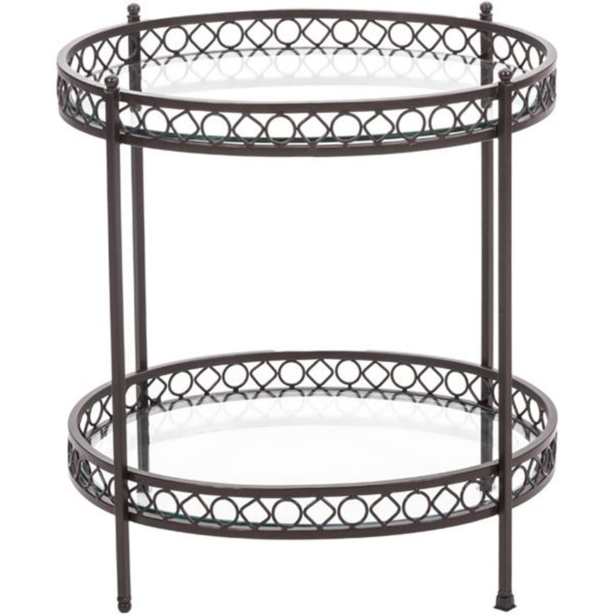 Picture of VENESSA side table d61cm bronze/clear